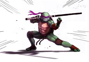 Donatello coloured by greenlantern