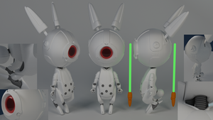 Little Bot Bunny - Completed by HeroNgauv