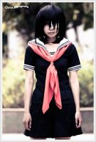 Misaki Mei 5- fanfic uniform version from ANOTHER by psycomeh