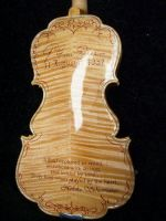 17th Century Model Violin with art on the Back by Hollow-Moon-Art