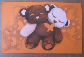 Never Alone Bear (1) by Bunneahmunkeah