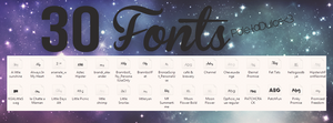 30 Fonts! by paletadulce
