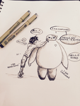Hello Baymax by xMegalynx