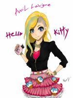 Fanart Hello Kitty - Avril Lavigne by Maru-Benz-Aihere
