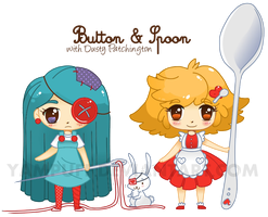 Button and Spoon by YamPuff