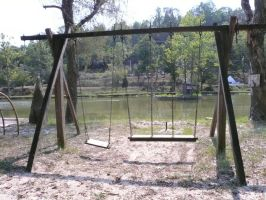 Rustic Swingset by StockChroma