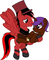 Toon Critic and Eliyora by Vector-Brony