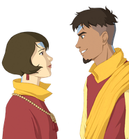 Jinora and Kai older by BlueDecember89