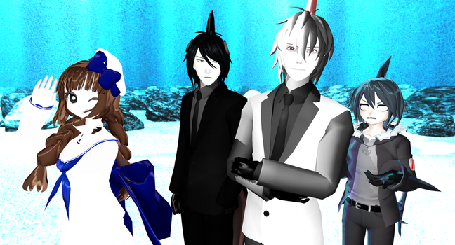 Wadanohara and Her Not so Great Guy Friends by BossBumble