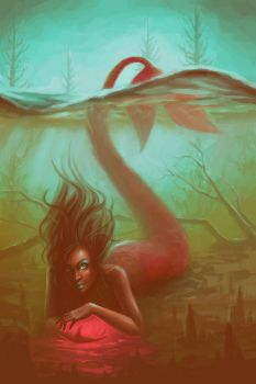 Swamp Mermaid by LauraHollingsworth