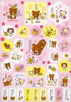 rilakkuma n flowers by tristan19019