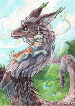 ACEO Fly With Me by Sysirauta