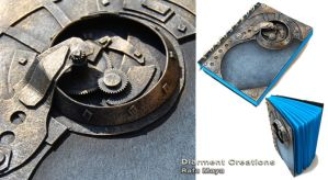 Steampunk Blue Journal by Diarment