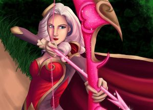 Heartseeker Ashe - Aiming for a Pentakill by Midnight-Dark-Angel