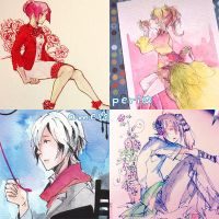 Watercolour commissions for pick up at AX13 by onedayfour