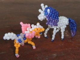 Beaded Bella Sara horse Stardust with Butterwings by Anabiyeni