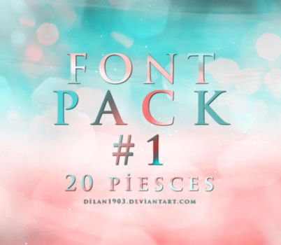 Font Pack #1 by dilan1903