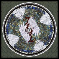 Tile of vine and wing by PassionateSnuff