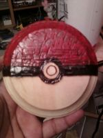 Pokeball coaster by cutiechibi