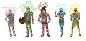 Elemental Riders by BadDogg