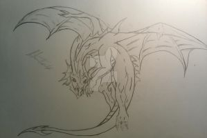 Dragon tattoo design unfinished by Nathandavis42