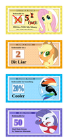 Pony Money Stickers (lo-res) by C-quel