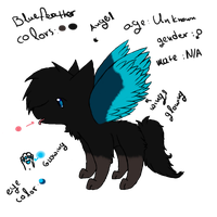 bluefeather reference sheet by random-ftw