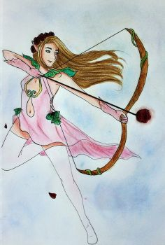 Flower Power Elf Warrior by Satansbabygoat
