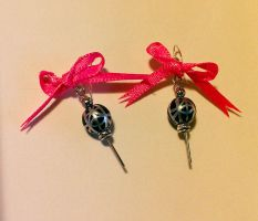 Madoka Grief Seed Earrings with Ribbon by Proxy170