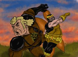 Henchman 21 vs Brock Samson by vorkosigan5