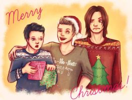 Merry Christmas and Happy New Year! by MissFreakyLuce