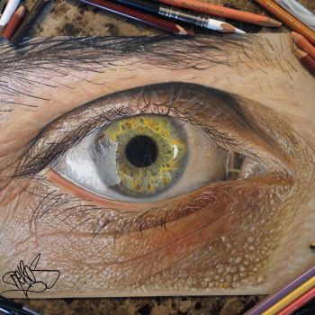 Drawing of Dino Tomic's eye. by redosking