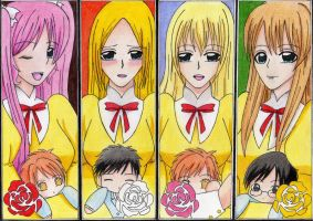 Ouran Maidens Flowers by Jusace