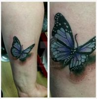 Butterfly tattoo by thirteen7s