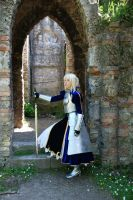 Saber armor side view by YurikoCosplay