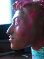 side profile sculpture by Thenextyoshitaka