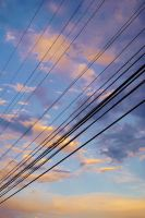 Sky on Wires by Banaski