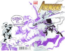 Avengers 7 SketchCover commish by mytymark