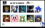 Flying LIon Top 10 Favorite Ssb Fighters Meme by FlyingLion76
