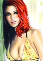 Mary Jane Sketch Card 2 by veripwolf