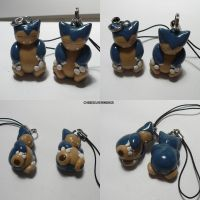 Snorlax Charm by ChibiSilverWings