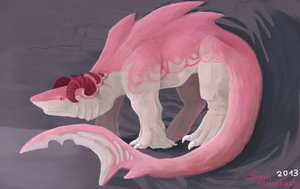 Pink Monster by MyraethCorax