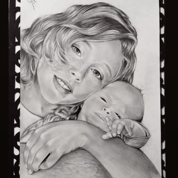 Family portrait - baby brothers by Jolene-eSousa