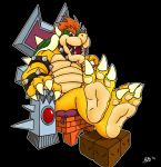 Bowser puts his feet up by Foot-paws