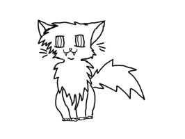 free cat lineart by pengirl389265