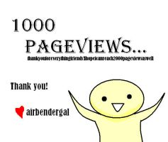 Thanks for the 1k by airbendergal