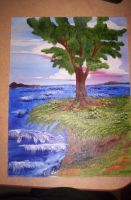 Tree on cliff of life by Iolii