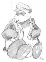 Smoking Panda by JimSam-X