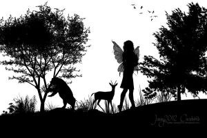 Silhouette - Black and White by Jassy2012