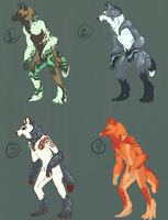 Werewolf Adopt Sheet {CLOSED} by Ticklebutt